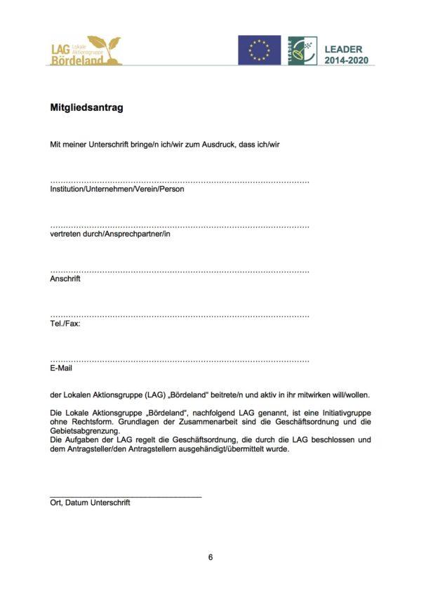 LAG Bördeland Mitgliedsantrag