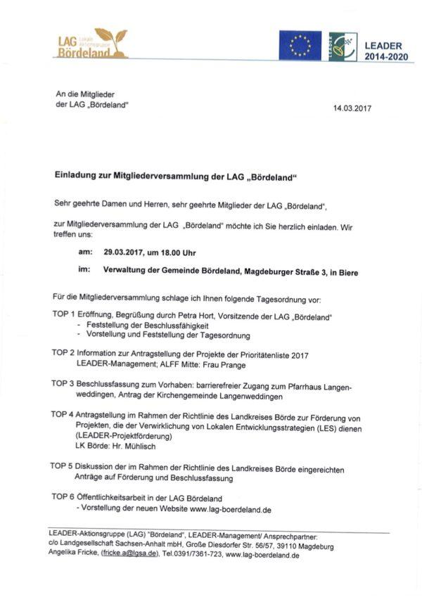 2017-03-29 LAG Bördeland Mitgliederversammlung Einladung