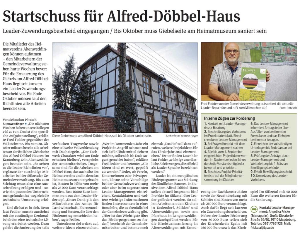 Startschuss für Alfred-Döbbel-Haus