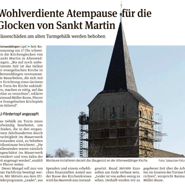 2018-02-15 Wohlverdiente Atempause für die Glocken von Sankt Martin