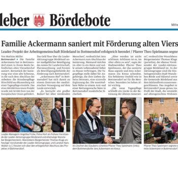 Familie Ackermann saniert mit Förderung alten Vierseitenhof