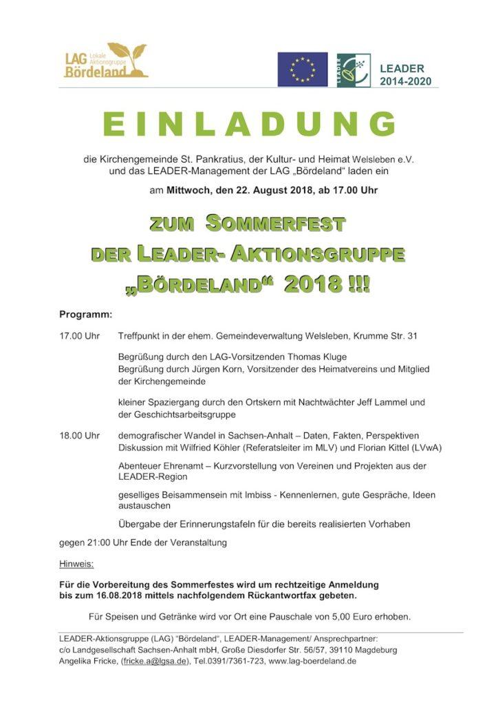 LADER Bördeland Sommerfest 2018