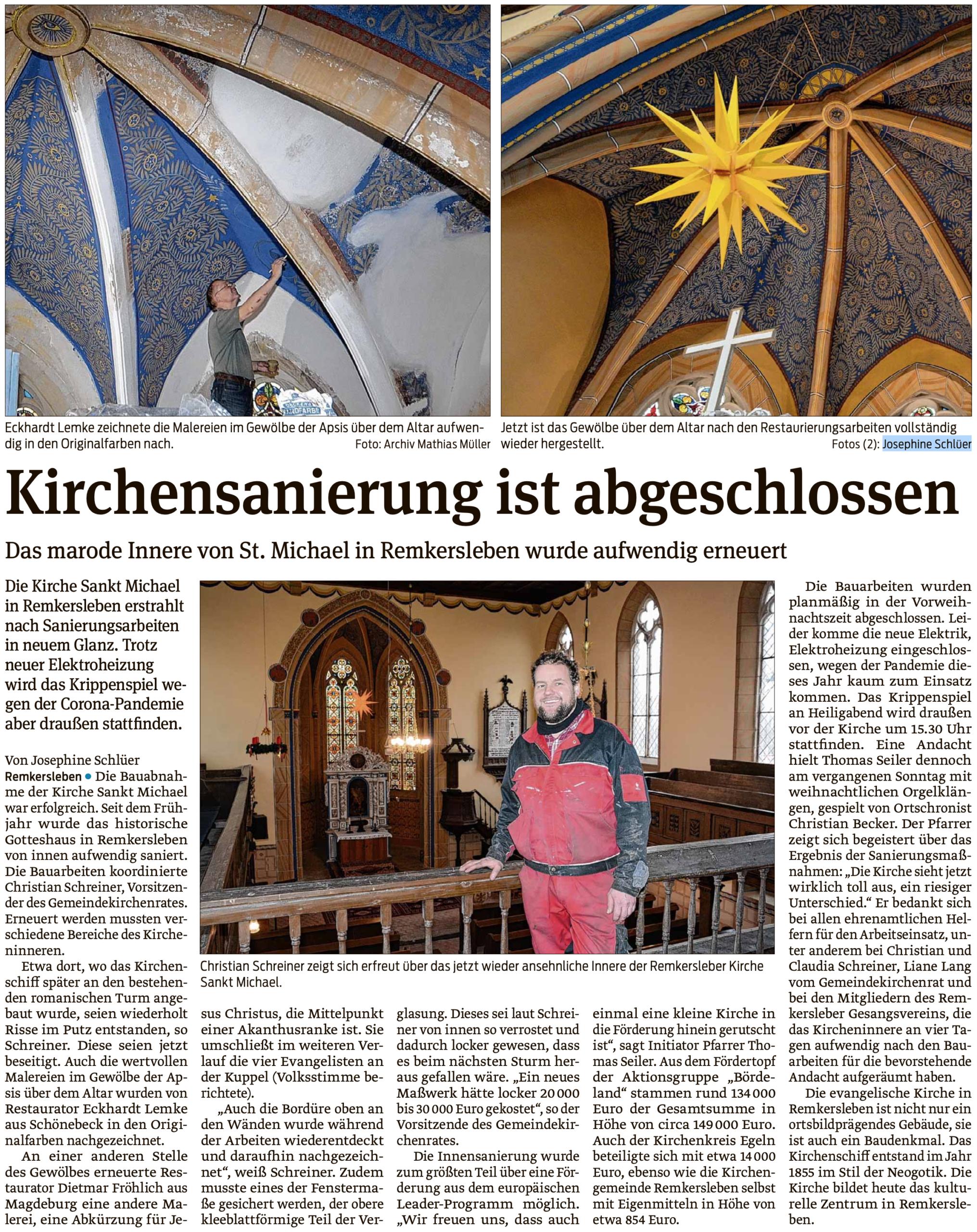 Kirchensanierung ist abgeschlossen